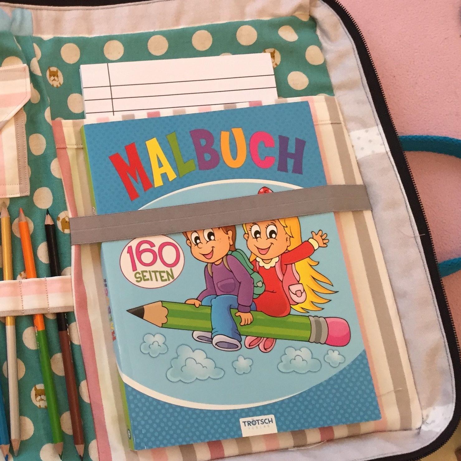 genähte Maltasche für Kinder, Malmappe für Kinder nähen,