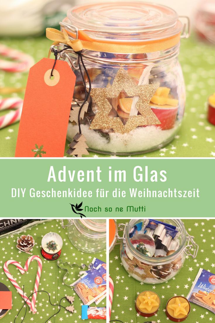 Ein kleines DIY für die Vor-Weihnachtszeit. Das Adventsglas enthält kleine Dinge, die die Adventszeit versüßen sollen und ist das perfekte Geschenk.
