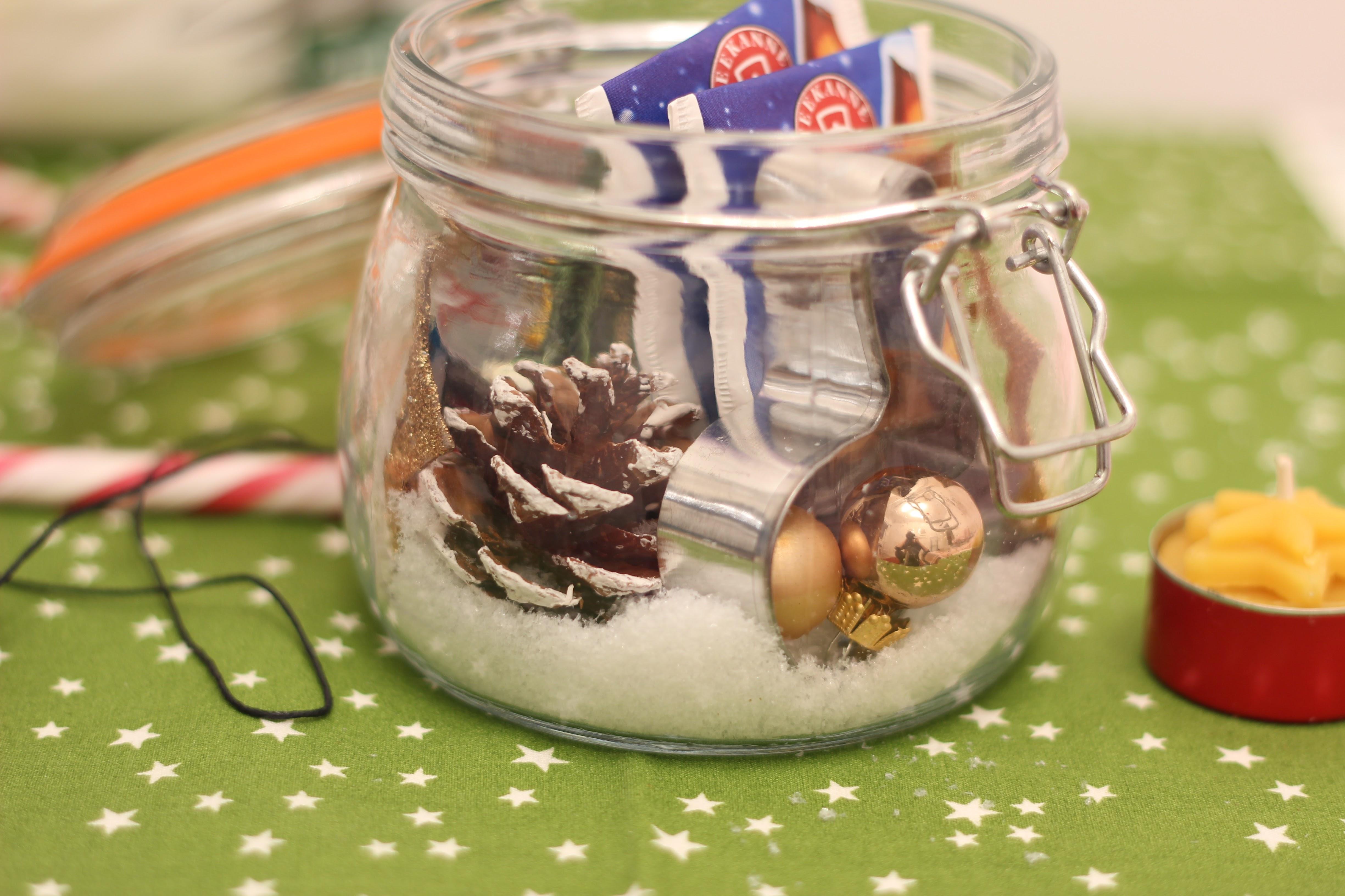 DIY Advent im Glas mit weihnachtlicher Deko