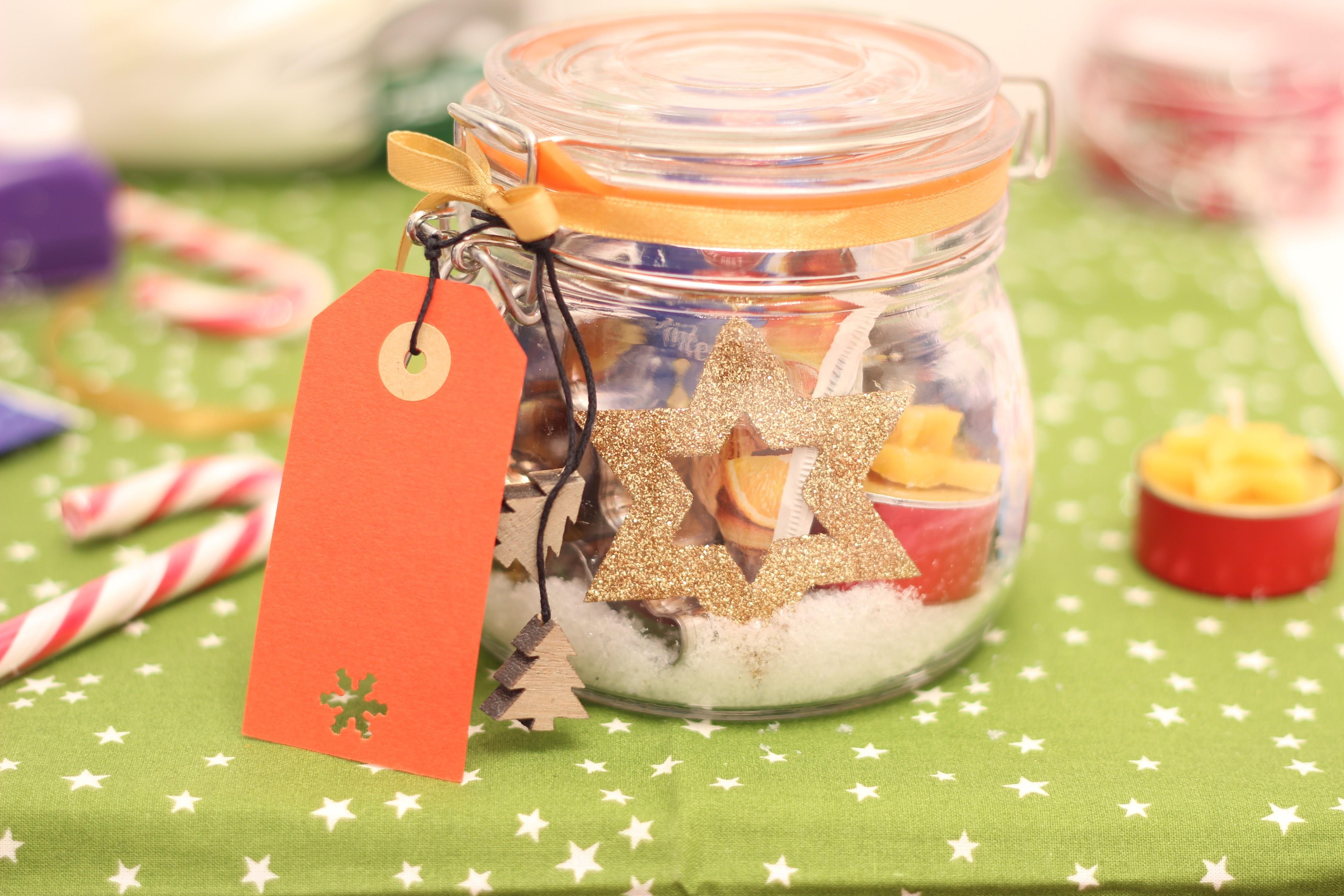 DIY Advent im Glas gefüllt mit Dingen, die die Adventszeit ausmachen